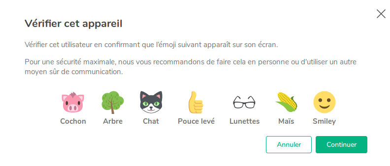 Exemple Vérification Emoji